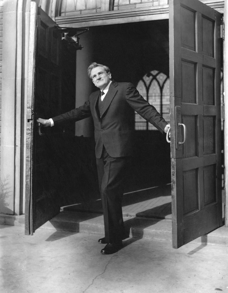standley at the door
